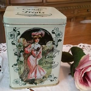 Vintage Victorian Women Candy Treats Crownford Tin